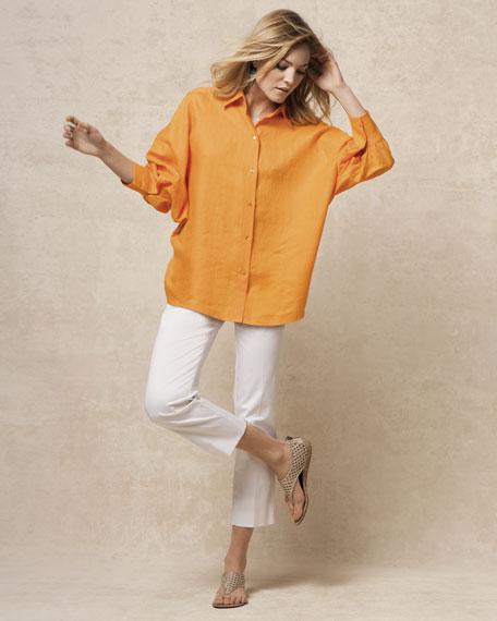 Dolman-Sleeve Linen Tunic
