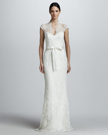 Lace Gown with Lace Bodice