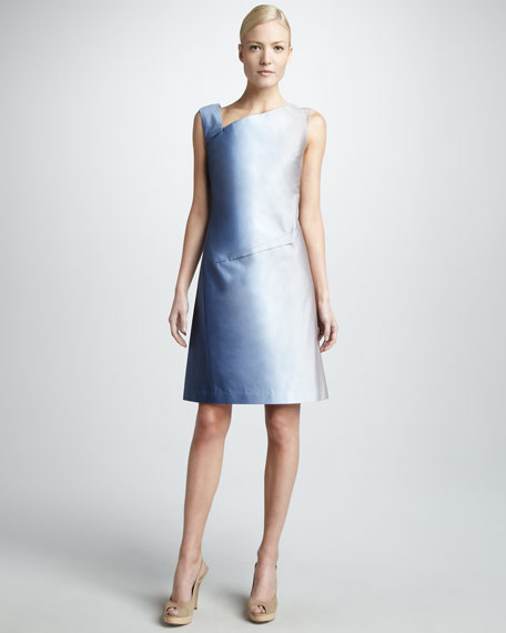 Asymmetric Ombre Dress