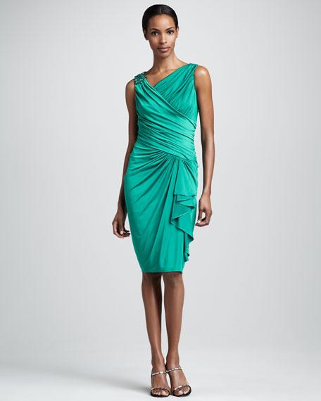 Ruffle-Front Asymmetric Dress