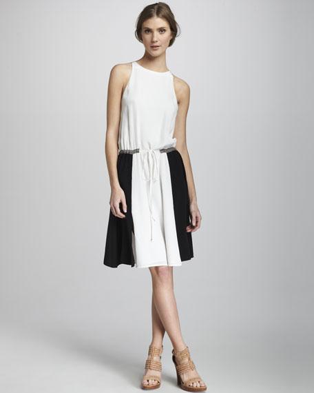 Colorblock-Skirt Dress