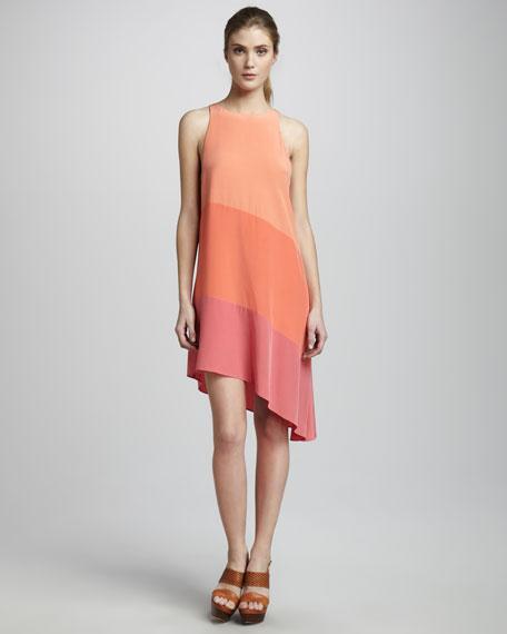 Asymmetric Colorblock Dress