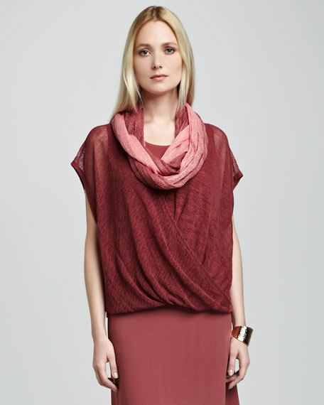 Linen Ombre Infinity Scarf