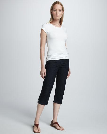 Brandi Grommet-Detail Cropped Jeans