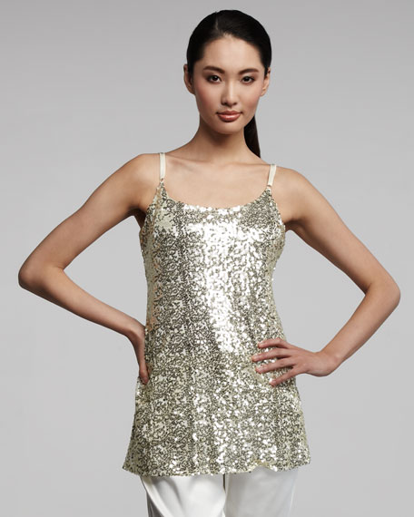 Long Sequined Camisole