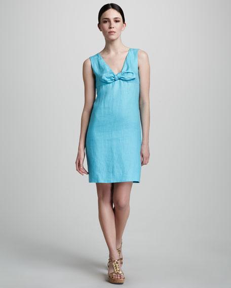 viola bow-neck dress