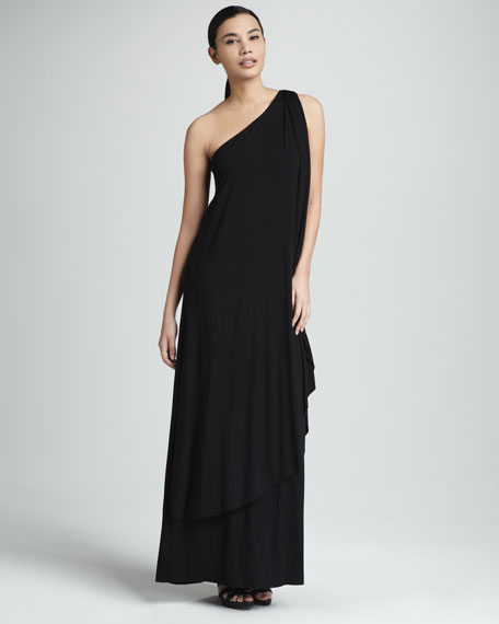 Ophelia One-Shoulder Maxi Dress, Women's