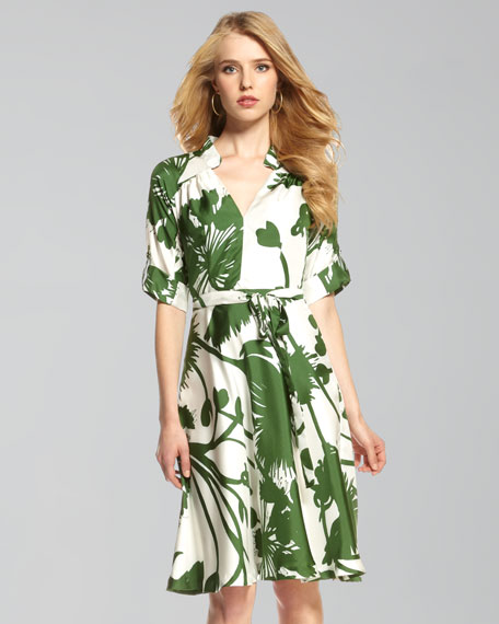 Karolina Thistle-Print Dress