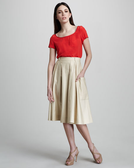 janis tea-length skirt