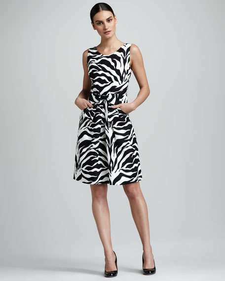 jillian zebra-print dress