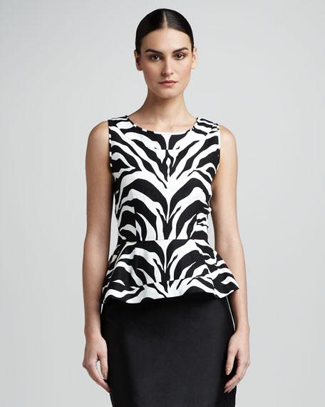 randy zebra-print top