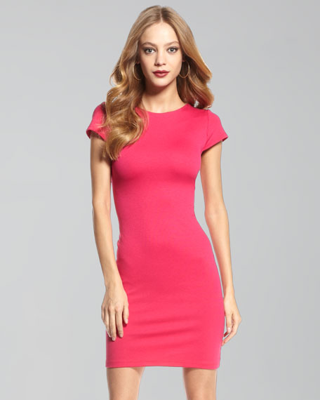 Open-Back Fitted Dress