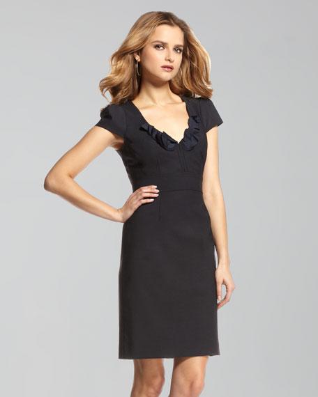 Lace-Up Belt Sheath Dress