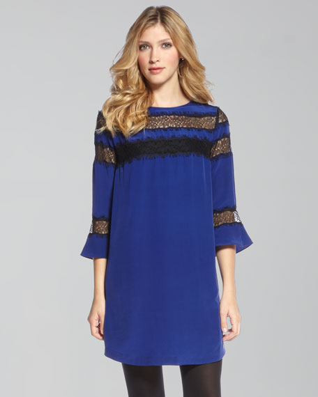 Romantic Lace-Inset Tunic