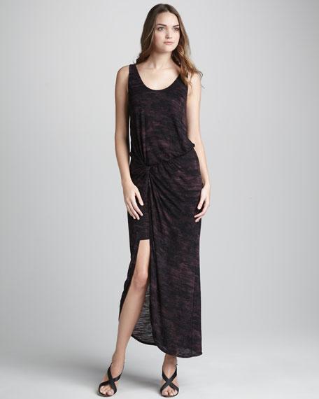 Brush-Stroke-Print Dress