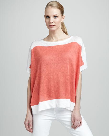 Colorblock Linen Sweater