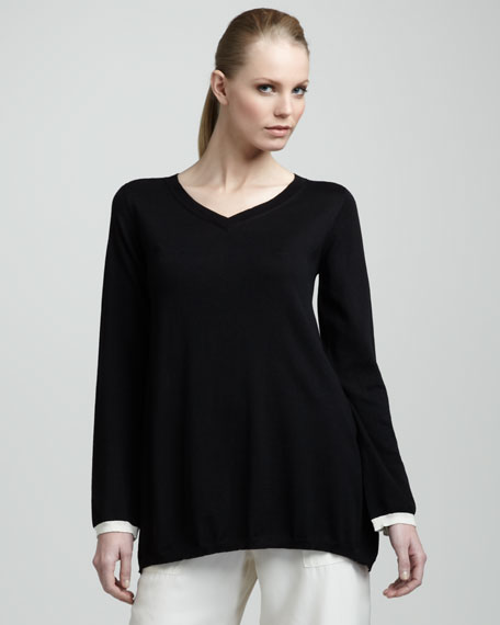 Stripe-Back Sweater