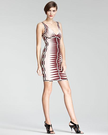 Arrow-Print Bandage Dress