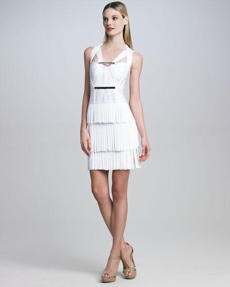 Crisscross Fringe Dress
