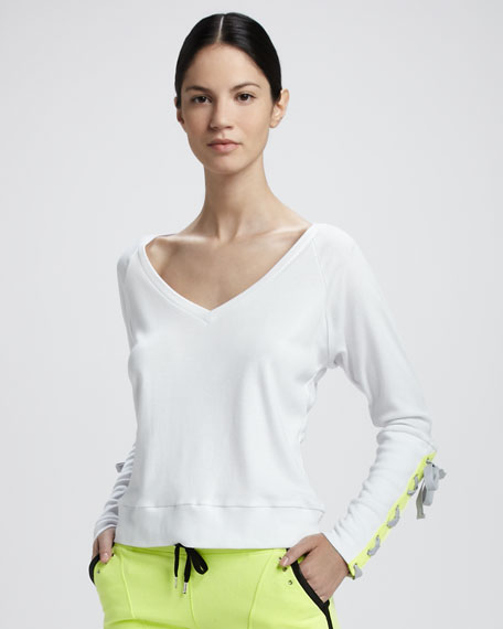 Resolve Lace-Up-Sleeve Top