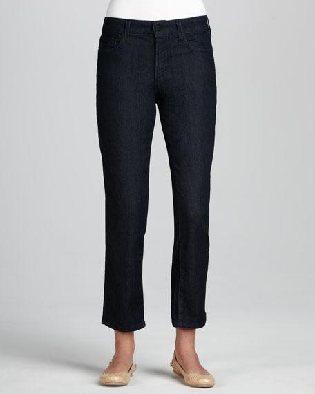 Alisha Dark Enzyme Ankle Jeans, Petite