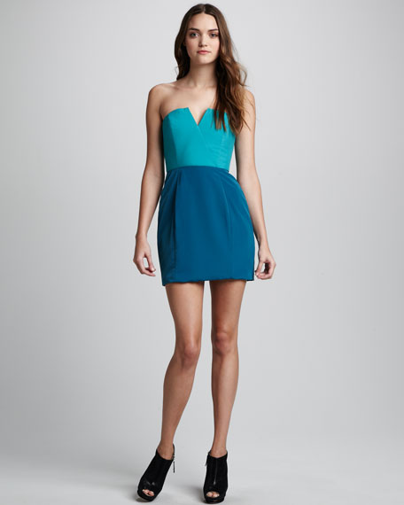 Two-Tone Bombshell Dress