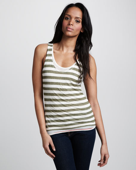 Striped Double-Layer Tank