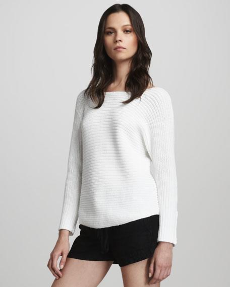 Chunky-Rib Sweater, White