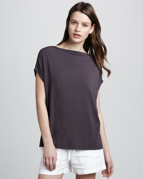 Boat-Neck Tee, Seal