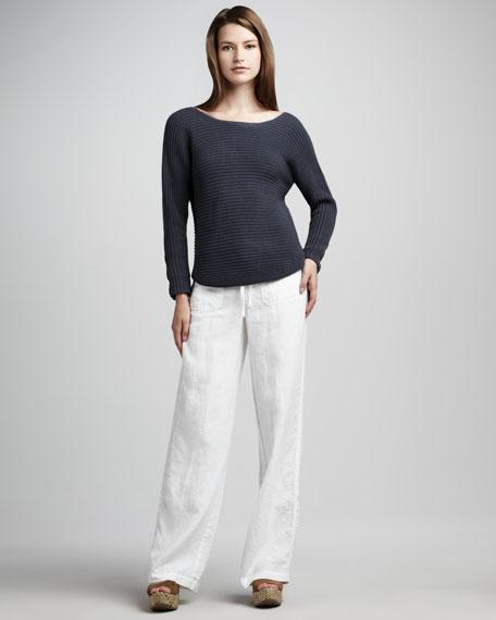 Linen Beach Pants, White