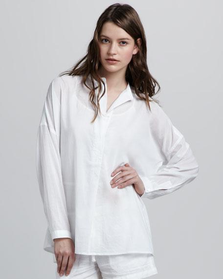 Oversized Cotton Blouse