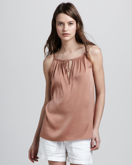 Tie-Front Camisole, Coppermine
