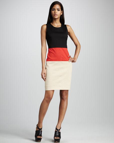 Colorblock Twill Dress