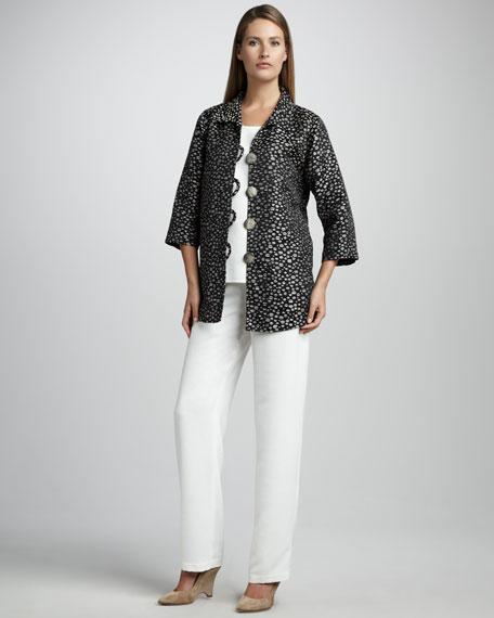 Dot-Jacquard Easy Shirt, Women's