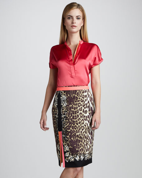 Julie Leopard-Print Skirt