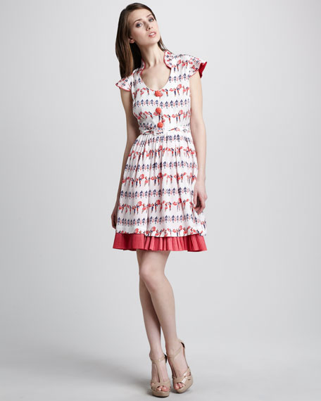Matador-Print Dress