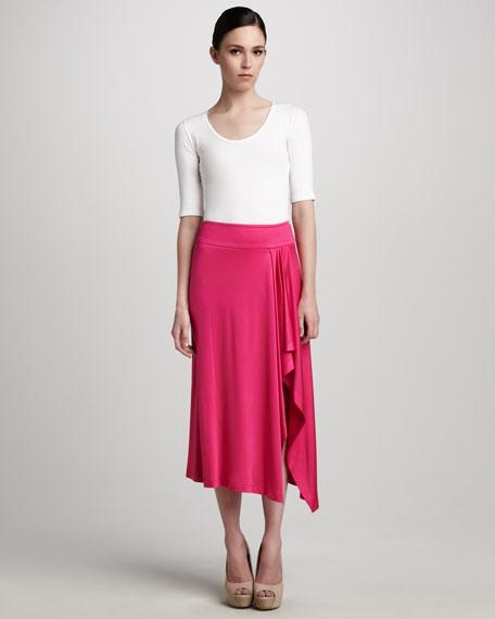Draped Jersey Skirt