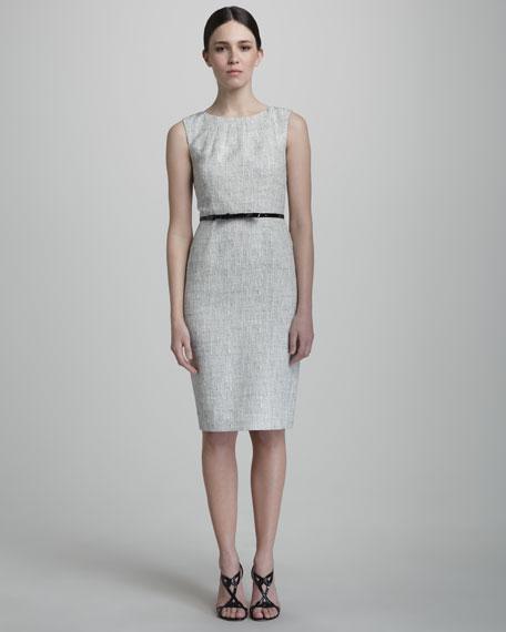 chondra summer-tweed belted dress