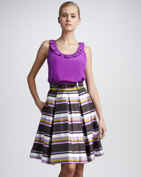 lilith striped full skirt