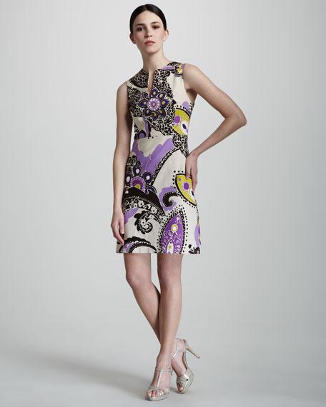 keiran printed tweed dress