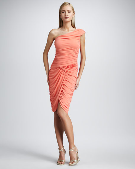 Tissue Jersey Goddess Dress, Papaya