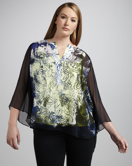 Maxie Printed Blouse, Women's