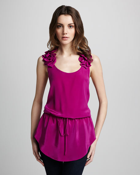 Ruffled Drawstring Tank