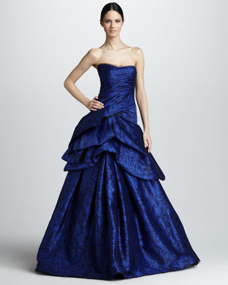 Strapless Tufted Ballgown
