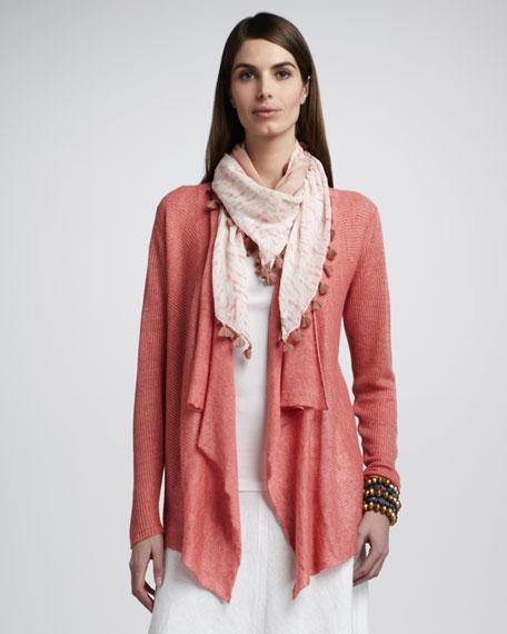 Ribbed Linen Cardigan, Women's