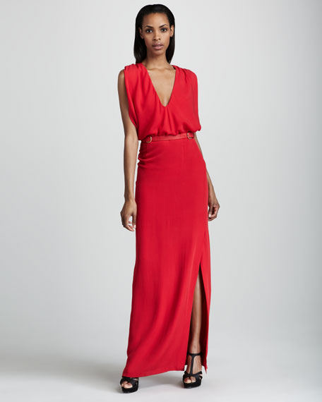 Wallis V-Neck Gown