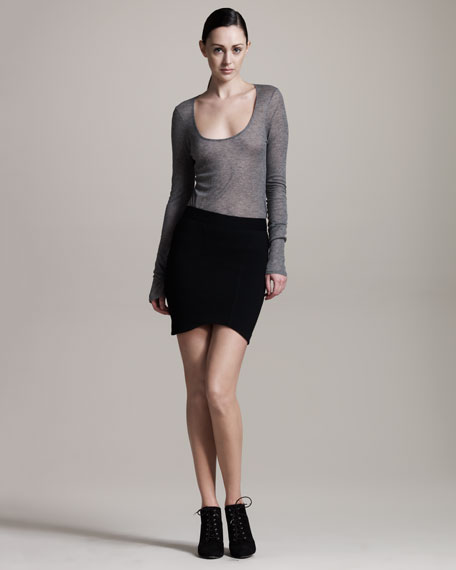 Jersey Cocoon Skirt