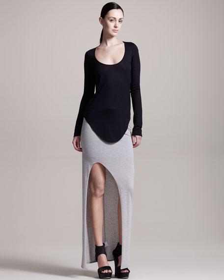 Kinetic Slit-Front Jersey Skirt