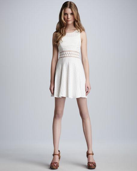 Daisy-Waist Lace Dress