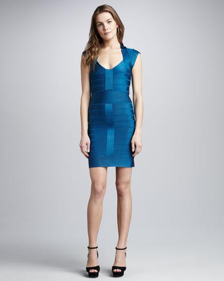 Cap-Sleeve Bandage Dress